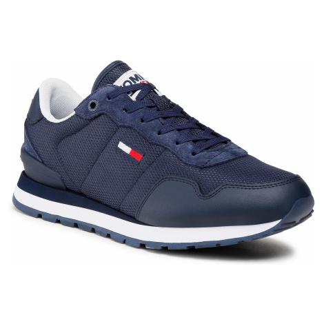 Sneakersy TOMMY JEANS - Lifestyle Mix Runner EM0EM00668 Twillight Navy C87 Tommy Hilfiger