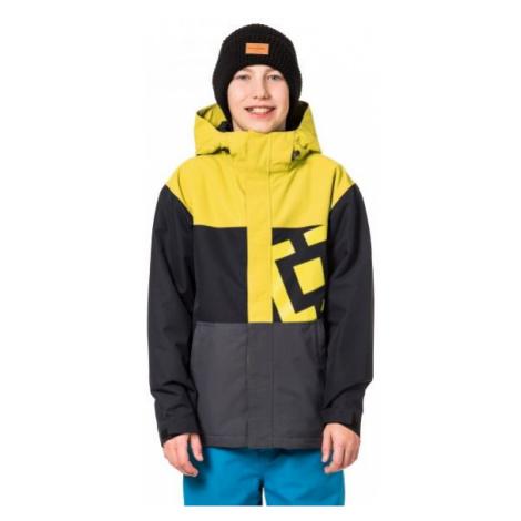Horsefeathers FALCON KIDS JACKET żółty M - Kurtka narciarska/snowboardowa chłopięca