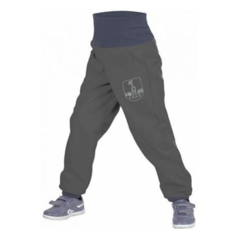 Unuo chłopięce spodnie softshell z polarem szare