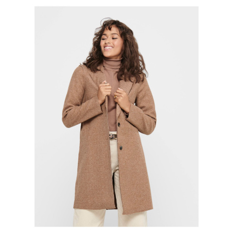 Beżowy płaszcz TYLKO Carrie Only