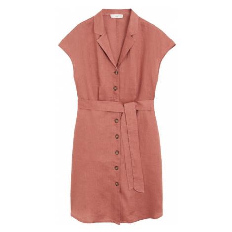 MANGO Sukienka rdzawoczerwony