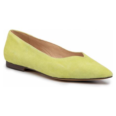 Baleriny CAPRICE - 9-24202-24 Lime Suede 732