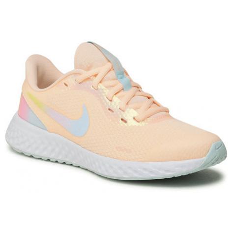 Nike Buty Revolution 5 Se (Gs) CZ6206 800 Pomarańczowy