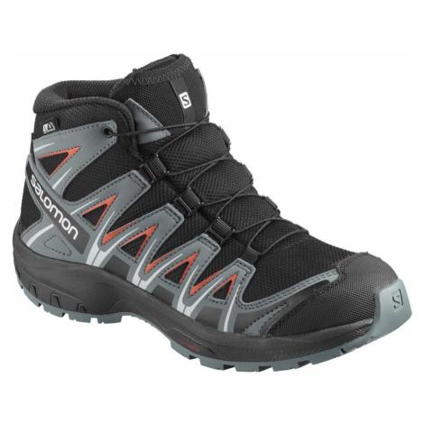 Salomon, Pro 3D Waterproof Junior Boot Czarny, male, rozmiary: