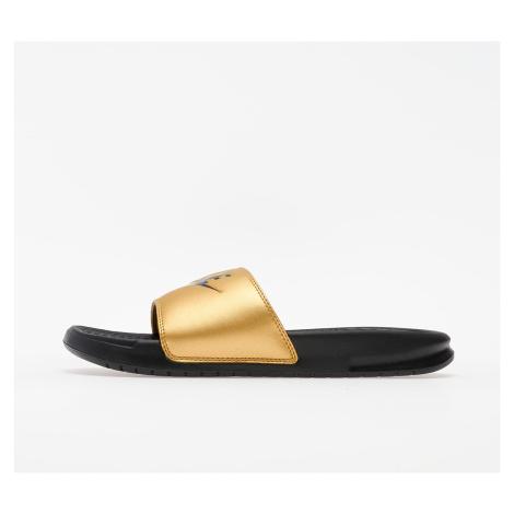 Nike Wmns Benassi JDI Black/ Black-Metallic Gold
