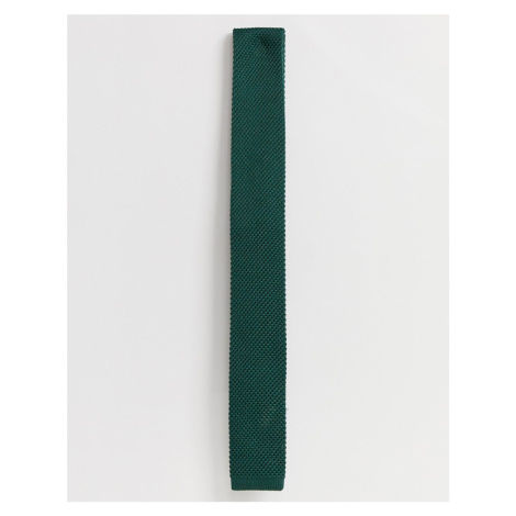 Selected Homme knitted tie in green