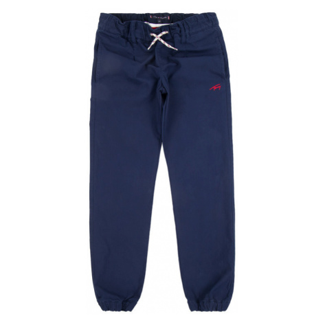 TOMMY HILFIGER Spodnie materiałowe Pleated KB0KB05052 D Granatowy Regular Fit