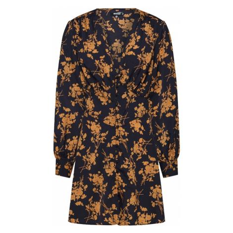 Missguided Sukienka koszulowa czarny / ciemnopomarańczowy