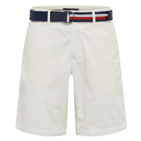 TOMMY HILFIGER Spodnie 'BROOKLYN SHORT LIGHT TWILL BELT' biały