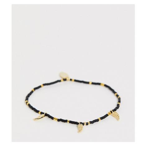 Orelia seed bead gold plated tusk bracelet