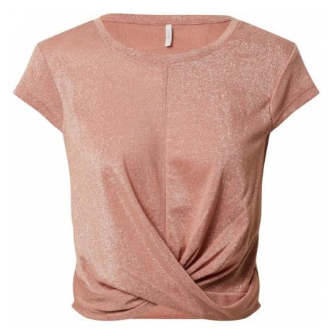 ONLY Koszulka 'ONLCAROL S/S TWIST TOP JRS' różowy pudrowy