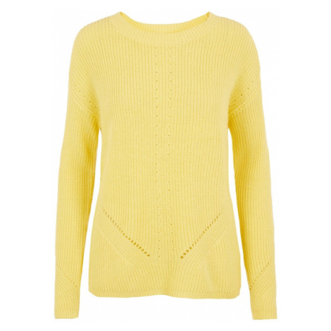 PIECES Sweter limonkowy