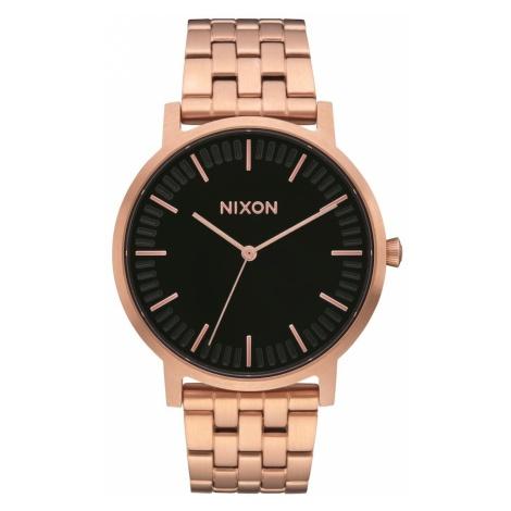 Nixon Zegarek analogowy 'Porter' brąz / złoty / czarny