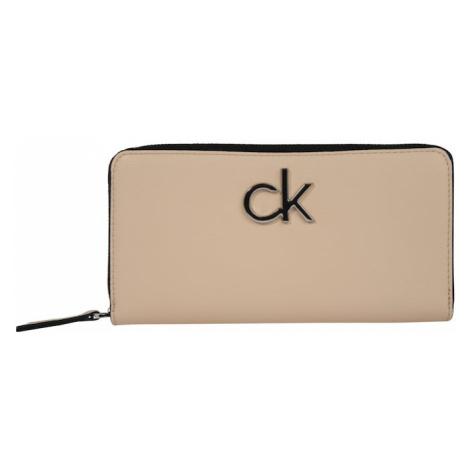 Calvin Klein Portmonetka 'RE-LOCK ZIPAROUND LG' piaskowy