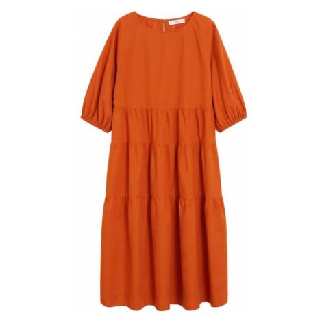 MANGO Sukienka 'Sia-h' ciemnopomarańczowy