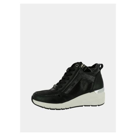 Czarne sneakersy damskie na koturnie Tom Tailor