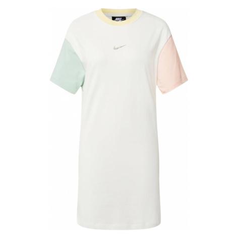 Nike Sportswear Sukienka biały / pastelowy zielony / pastelowy róż