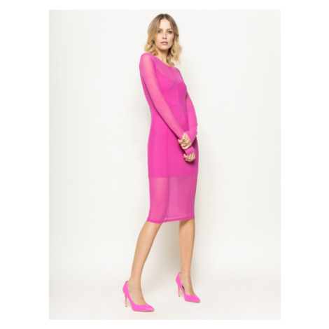 Patrizia Pepe Sukienka koktajlowa 8A0654/A6I4-R666 Różowy Slim Fit