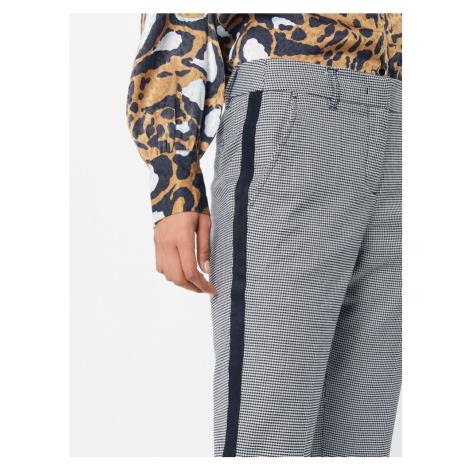 TOM TAILOR Spodnie w kant czarny / biały