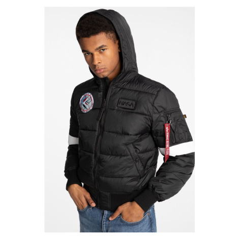 Kurtka Alpha Industries Hooded Puffer Fd Nasa 121 Black