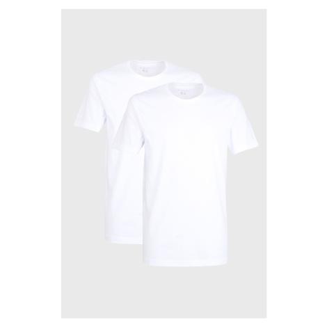 2 PACK białych T-shirtów Bugatti O-neck