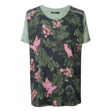 Desigual koszulka damska TS Willem zielony