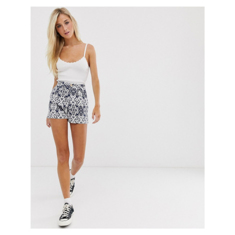 Pull&Bear Pacific bohemian print co ord shorts in blue Pull & Bear