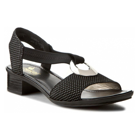 Sandały RIEKER - 62662-02 Black 1