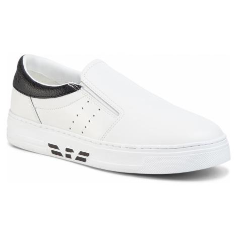 Sneakersy EMPORIO ARMANI - X4X299 XM312 D611 Opt.White/Black