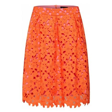 SAND COPENHAGEN Spódnica 'Norma' różowy pudrowy / pomarańczowo-czerwony