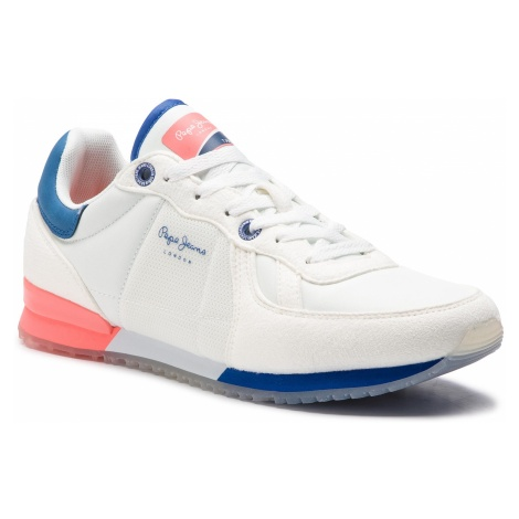 Sneakersy PEPE JEANS - Tinker Neon PMS30507 White 800