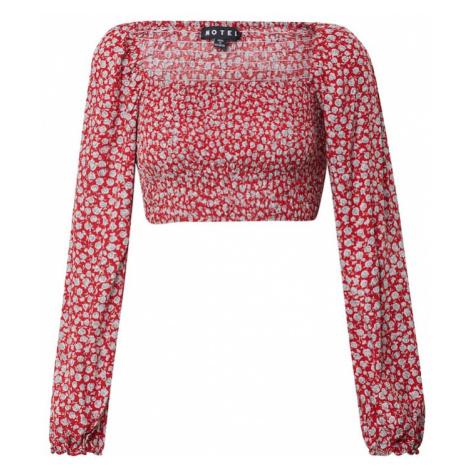 Motel Koszulka 'ELINA' srebrny / różowy pudrowy