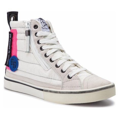 Sneakersy DIESEL - D-Velows Mid Patch W Y01923 P2283 H7102 Star White/Pink Fluo