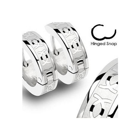kolczyki Body Art SSE - 002/Hinged Hoop CC Engrave