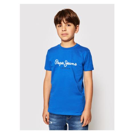 Pepe Jeans T-Shirt Art PB501228 Niebieski Regular Fit