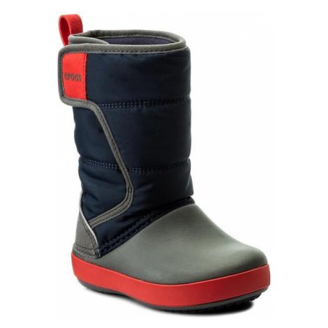 Crocs Śniegowce Lodgepoint Snow Boot K 204660 Granatowy