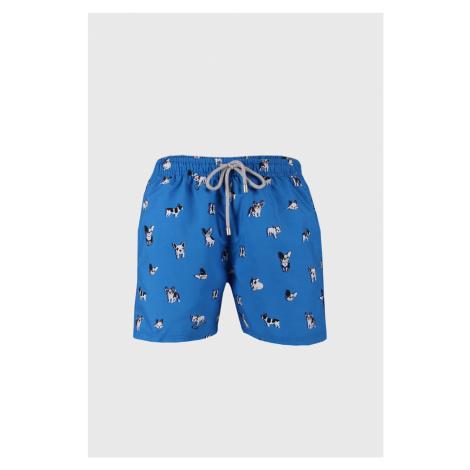 Niebieskie szorty kąpielowe Bulldog John Frank