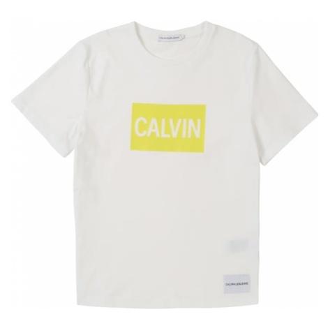 Calvin Klein Jeans Koszulka złoty żółty / biały