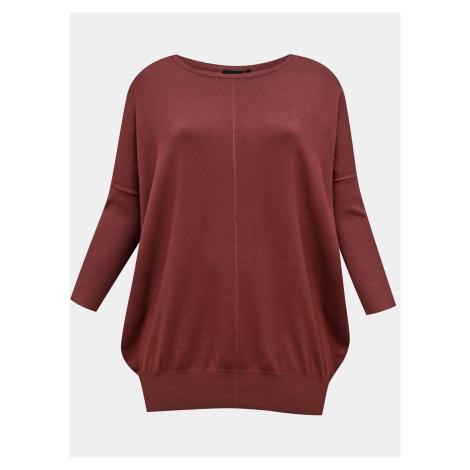 Zizzi wiśniowy/bordowy sweter