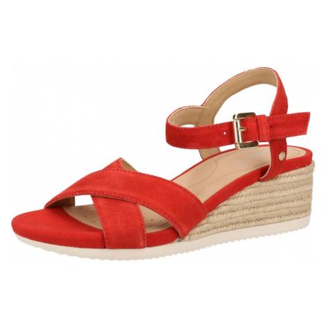GEOX Sandały z rzemykami czerwony