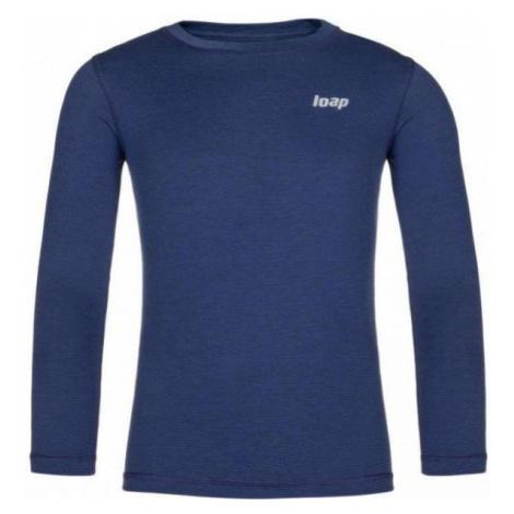 Loap PITTA niebieski 112-116 - Koszulka termoaktywna dziecięca