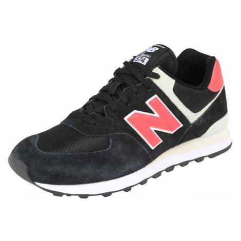 New Balance Trampki niskie 'ML574' czerwony / czarny / biały