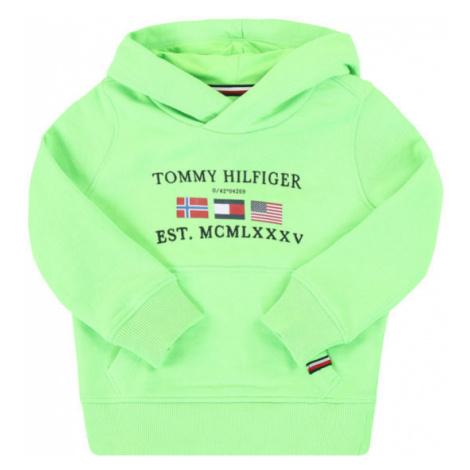 Tommy Hilfiger Bluza Artwork KB0KB05477 M Zielony Regular Fit