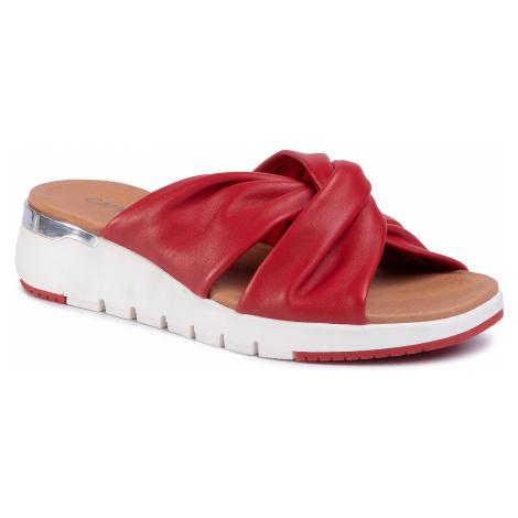 Klapki CAPRICE - 9-27203-34 Red Softnappa 525