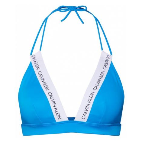 Calvin Klein Swimwear Góra bikini 'FIXED TRIANGLE-RP' niebieski