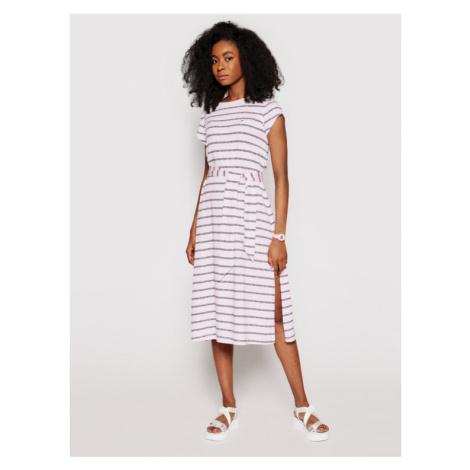 Tommy Jeans Sukienka codzienna Belted Stripe DW0DW09935 Różowy Regular Fit Tommy Hilfiger
