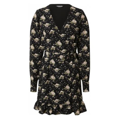 Fashion Union Sukienka 'Trayley' czarny / mieszane kolory