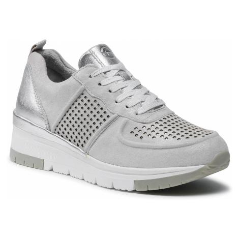Sneakersy TAMARIS - 1-23745-26 Silver/Punch 961