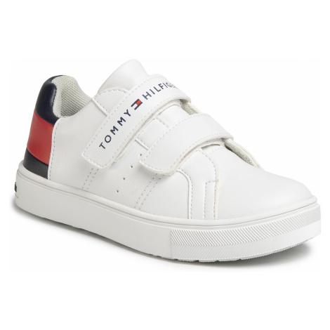 Sneakersy TOMMY HILFIGER - Low Cut Velcro Sneaker T3B4-30719-0193Y003 White/Blue/Red Y003