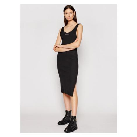 Calvin Klein Jeans Sukienka dzianinowa J20J216177 Czarny Slim Fit